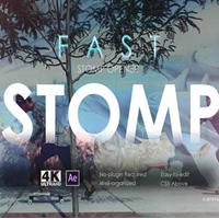 Fast Stomp Opener快节奏闪现图文快闪展示AE模板
