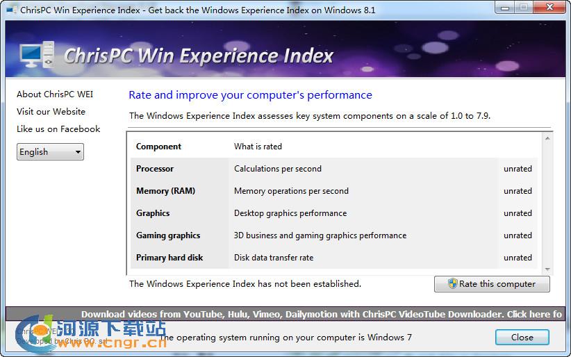 "ChrisPC Win Experience Index 1.30 绿色版 第三方""Windows"