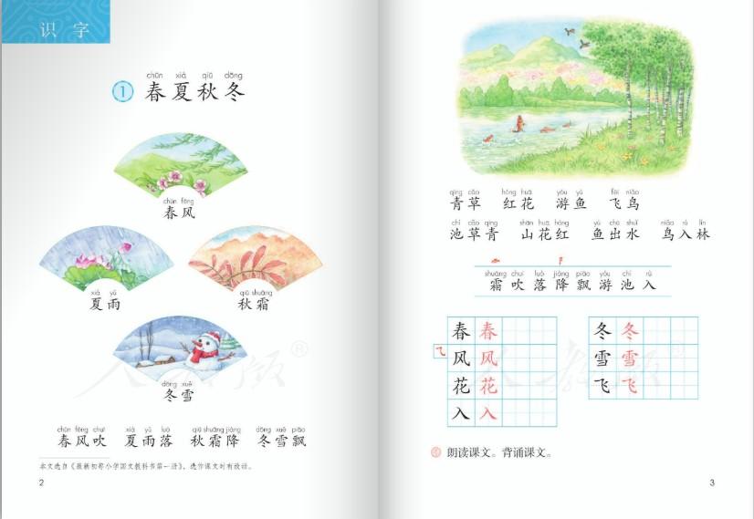 五四二部制语文一班级下册人事教育版图1
