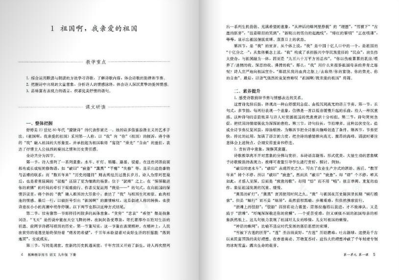 九班级下册语文教授用书电子版图1